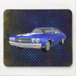 Chevelle 1970 SS: Final azul: Mousepad Alfombrilla De Ratones