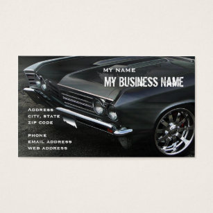 Car dealer business cards templates zazzle chevelle limited business card colourmoves Gallery