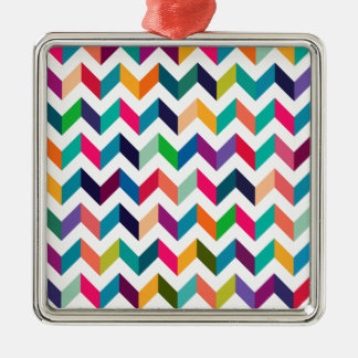 Cheveron, Zig Zag, V Pattern. Tan, Red, Black, Tea Christmas Ornament