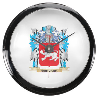 Chevers Coat of Arms - Family Crest Fish Tank Clocks