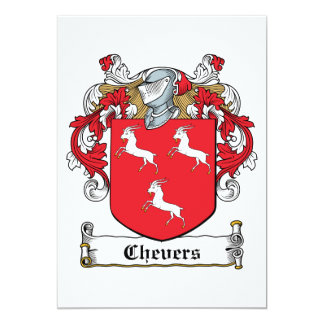 "Chevers Family Crest 5"" X 7"" Invitation Card"