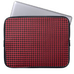 Chevon Checks Red and Black Computer Sleeve
