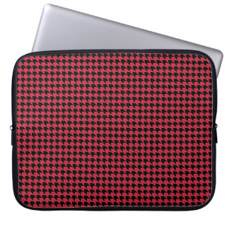 Chevon Checks Red and Black Laptop Sleeve
