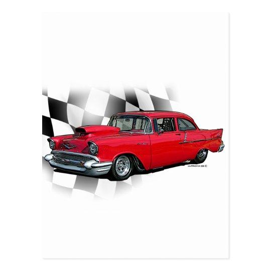 Chevrolet 1957 Dragster Tarjeta Postal