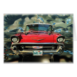 Chevrolet 1957 Rear Greeting Cards