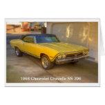 CHEVROLET 1968 CHEVELLE SS 396 TARJETAS