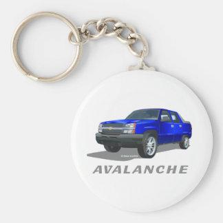 Chevrolet Avalanche Blue Basic Round Button Keychain