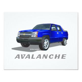 Chevrolet Avalanche Blue 4.25x5.5 Paper Invitation Card