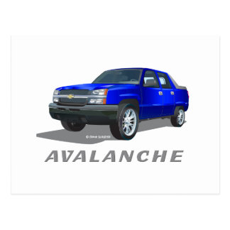 Chevrolet Avalanche Blue Postcard
