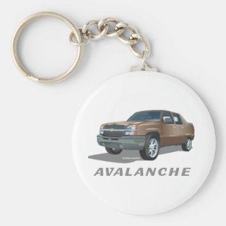 Chevrolet Avalanche Gold Basic Round Button Keychain