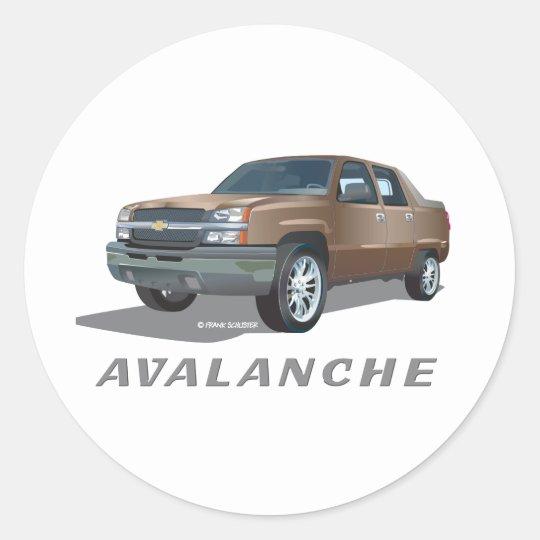 Chevrolet Avalanche Gold Classic Round Sticker