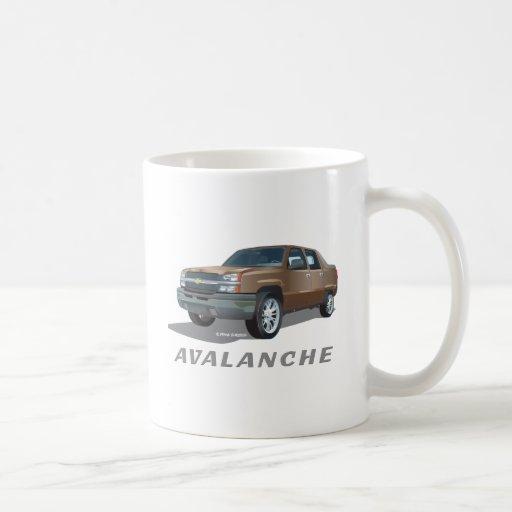 Chevrolet Avalanche Gold Classic White Coffee Mug