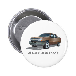 Chevrolet Avalanche Gold Pinback Button