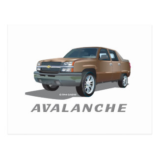 Chevrolet Avalanche Gold Postcard