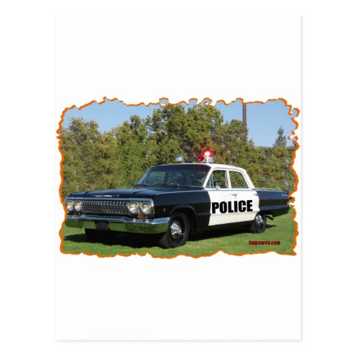 Chevrolet blanco y negro. tarjeta postal