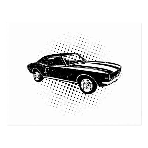 Chevrolet Camaro 1967 SS 396 Tarjetas Postales