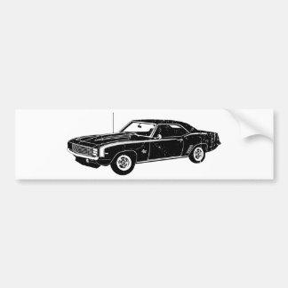 Chevrolet Camaro 1969 SS Etiqueta De Parachoque