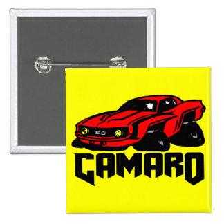 Chevrolet Camaro SS Pin Cuadrada 5 Cm