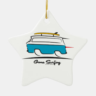 Chevrolet Corvair Greenbrier Gone Surfing Ceramic Ornament