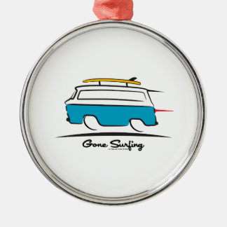 Chevrolet Corvair Greenbrier Gone Surfing Metal Ornament