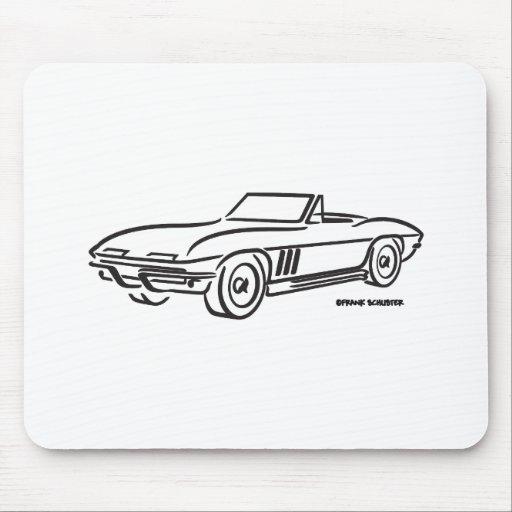 Chevrolet Corvette 1966 Alfombrilla De Raton