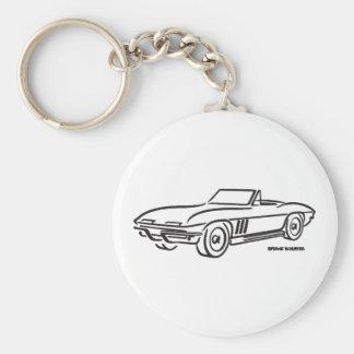 Chevrolet Corvette 1966 Llavero Redondo Tipo Pin