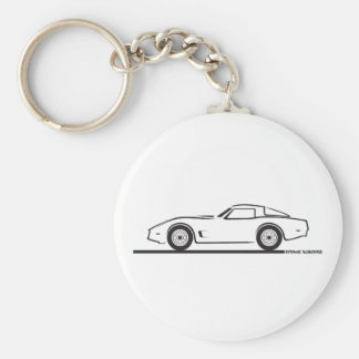 Chevrolet Corvette 1980-82 Llavero Redondo Tipo Pin
