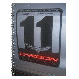 Chevrolet Corvette Z06 Special Edition in Blue Spiral Note Book