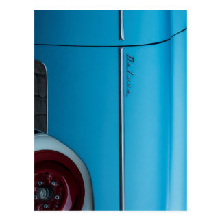 Chevrolet Deluxe Blue Fender Postcard