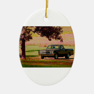 Chevrolet EL Camino Double-Sided Oval Ceramic Christmas Ornament