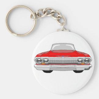 Chevrolet Impala 1963 Llavero Redondo Tipo Pin