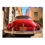 Chevrolet rojo tarjeta postal
