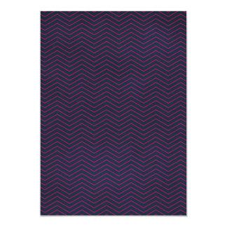 chevron01-navy DARK PURPLE PINK ZIGZAGS OPTICAL IL 5x7 Paper Invitation Card