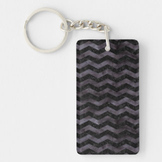 CHEVRON3 BLACK MARBLE & BLACK WATERCOLOR KEYCHAIN