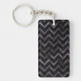CHEVRON9 BLACK MARBLE & BLACK WATERCOLOR KEYCHAIN