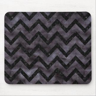 CHEVRON9 BLACK MARBLE & BLACK WATERCOLOR (R) MOUSE PAD