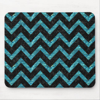 CHEVRON9 BLACK MARBLE & BLUE-GREEN WATER MOUSE PAD