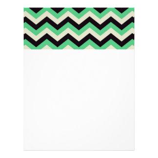 chevron 02 ,zigzag, aqua,black letterhead