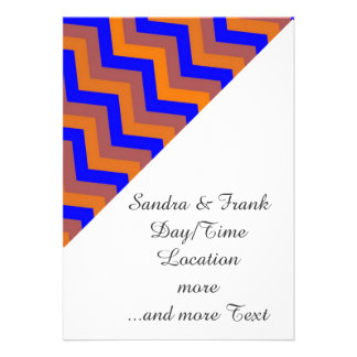 chevron 02 zigzag blue orange card
