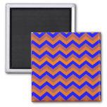 chevron 02 ,zigzag, blue,orange refrigerator magnet