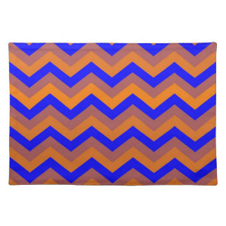 chevron 02 ,zigzag, blue,orange placemat