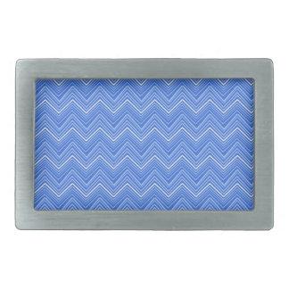 Chevron 03 zigzag blue belt buckle