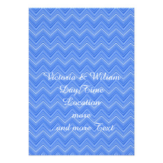 chevron 03 zigzag blue custom invitation