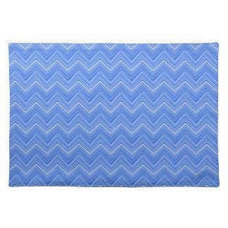 Chevron 03 zigzag, blue placemat