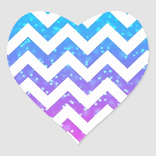 Chevron #15 pegatina en forma de corazón