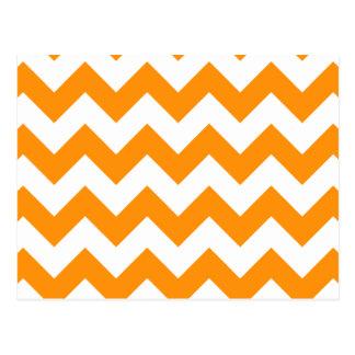 Chevron 1 naranja tarjetas postales