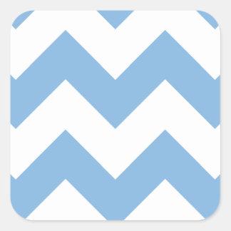 Chevron 1 Placid Blue Sticker