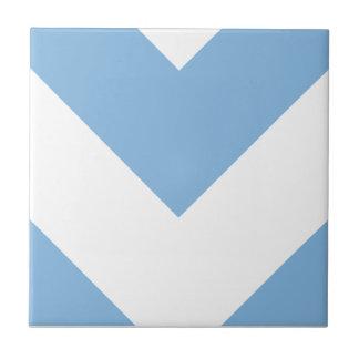 Chevron 1 Placid Blue Tile