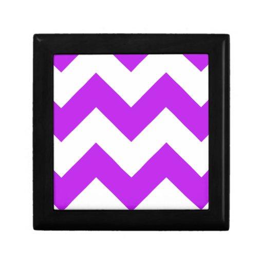 Chevron 1 púrpura caja de joyas