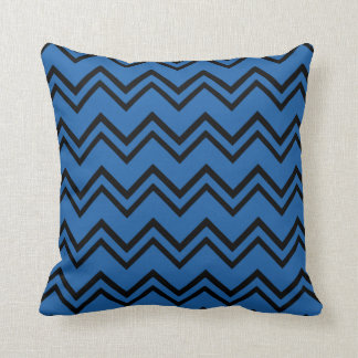Chevron 2 Dazzling Blue Throw Pillow